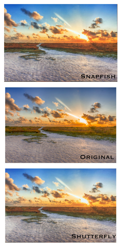 snapfish vs shutterfly for landscape image
